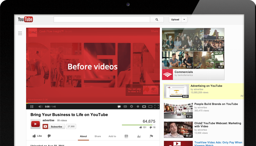 youtube preroll ad